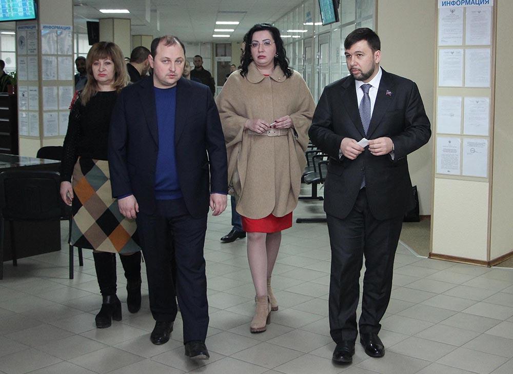 Денис Пушилин оценил работу Единого регистрационного центра в Донецке