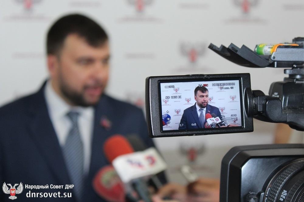 Денис Пушилин: В обществе чувствуется огромная сплоченность, хотя Украина хотела добиться обратного эффекта