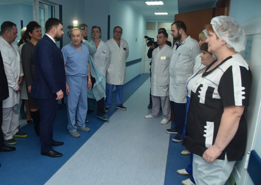 Глава ДНР Денис Пушилин открыл после капитального ремонта второе торакальное отделение ДоКТМО