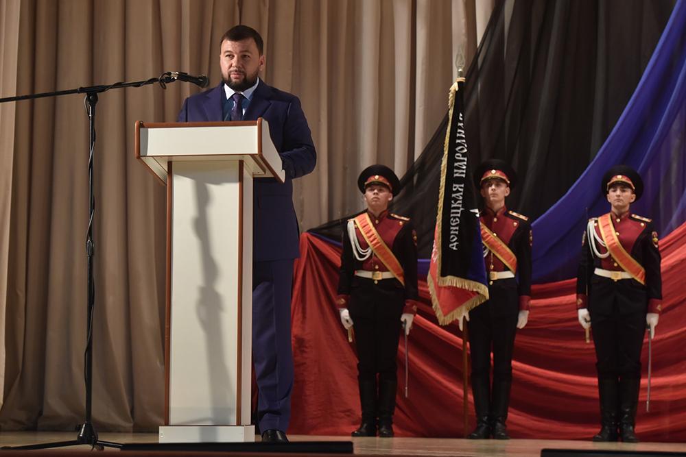 Глава ДНР Денис Пушилин поздравил военнослужащих с Днем создания внутренних войск МВД ДНР