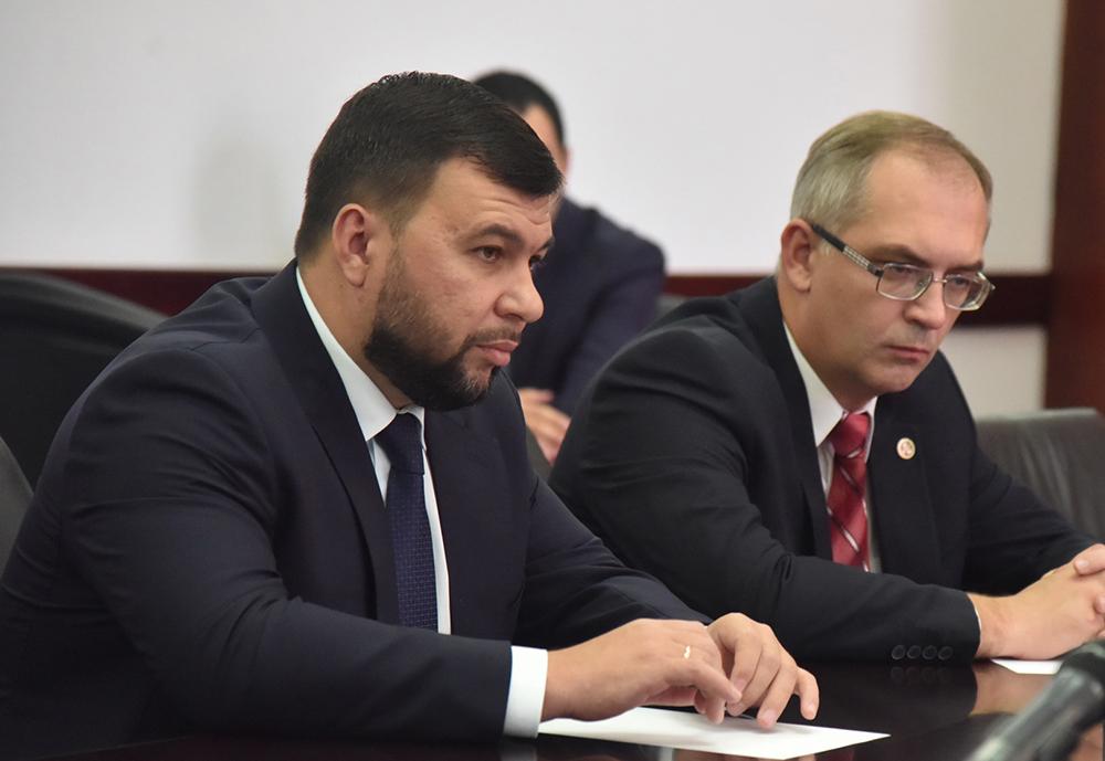 Глава ДНР Денис Пушилин встретился с Главой РСО-Алания Вячеславом Битаровым