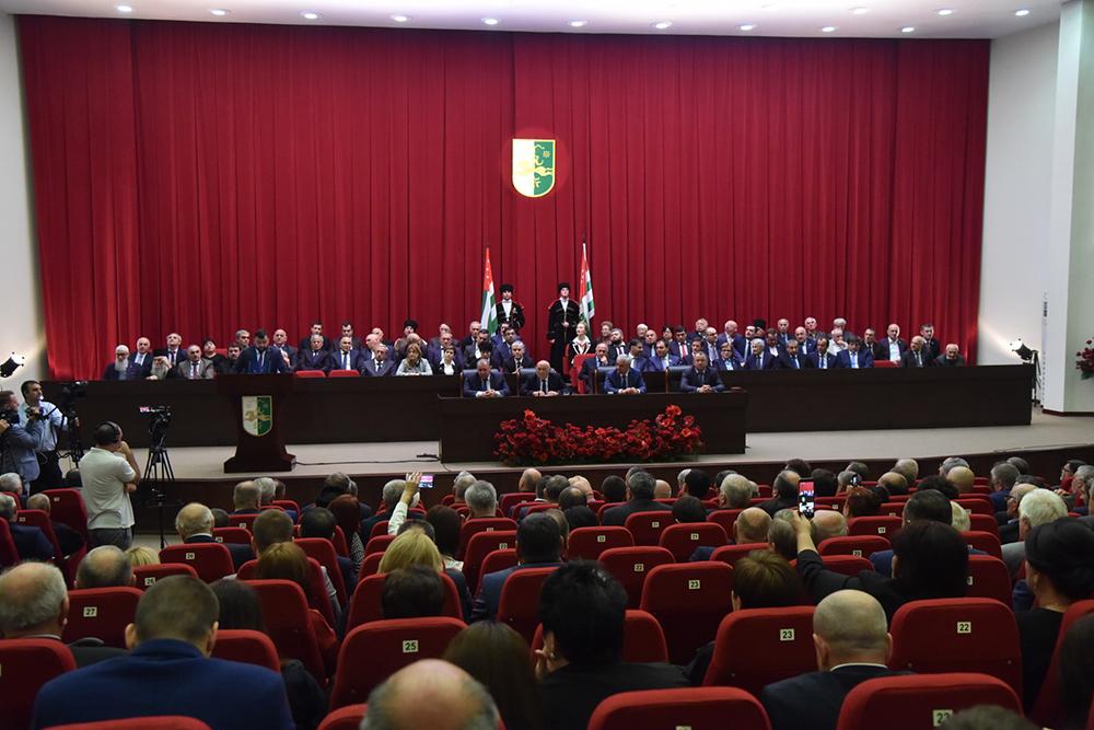 Глава ДНР Денис Пушилин принял участие в торжествах по случаю инаугурации Президента Республики Абхазия Рауля Хаджимбы