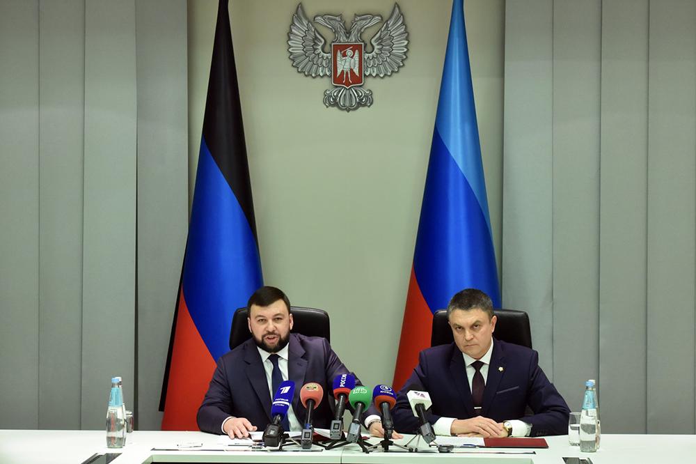 «Вопросы, касающиеся будущего Донбасса, должны быть согласованы с Республиками»: Денис Пушилин и Леонид Пасечник провели совместный брифинг в Донецке