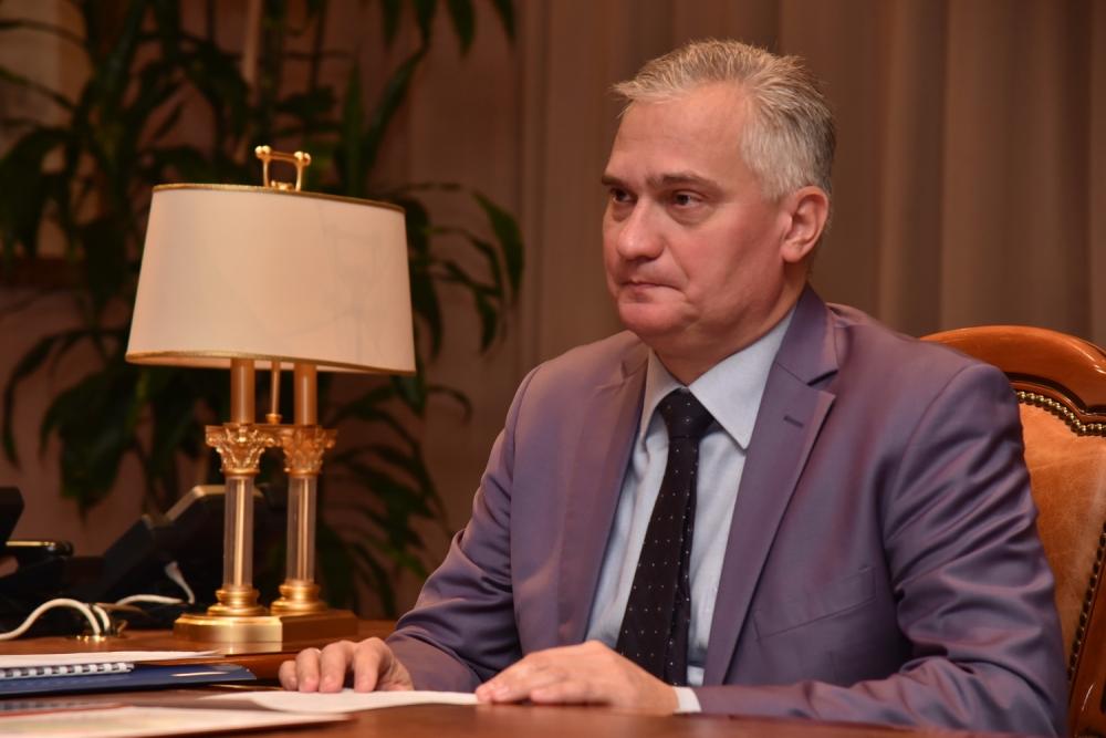 Глава ДНР Денис Пушилин принял отчет руководства ЧПП «Горняк-95» по досрочному выполнению программы развития шахты