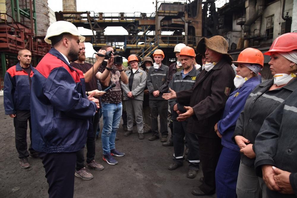 Денис Пушилин ознакомился с работой промышленных предприятий в Горловке