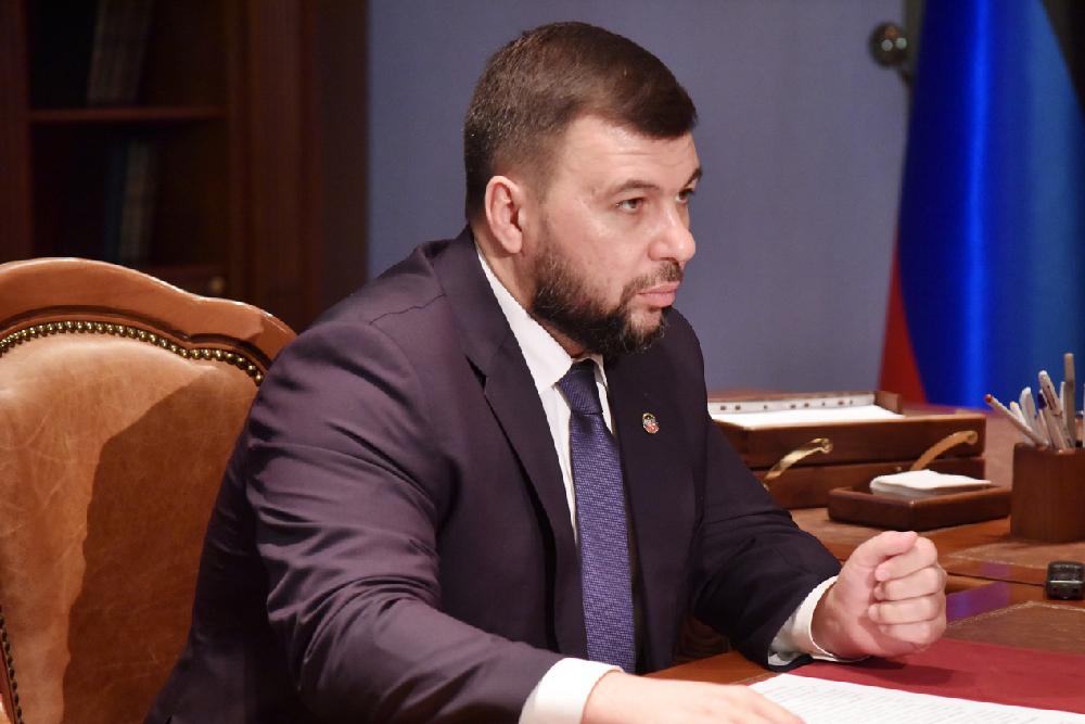Денис Пушилин провел встречу с ректором ДонНМУ Григорием Игнатенко